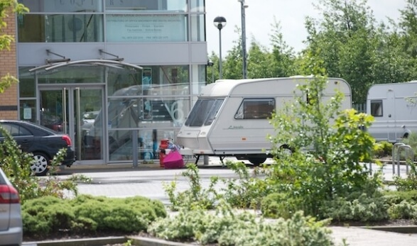 Image of caravan for article on evicting gypsies and travellers from private land for K9 Patrol article 1